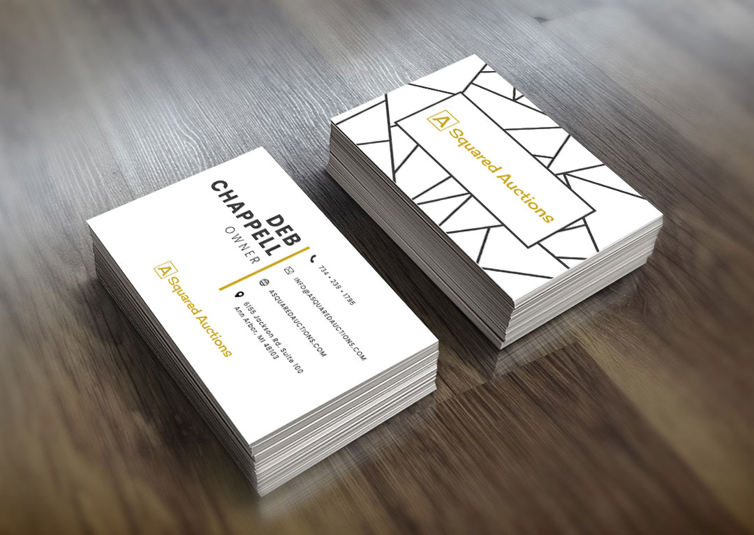 A Squared Auctions Business Cards